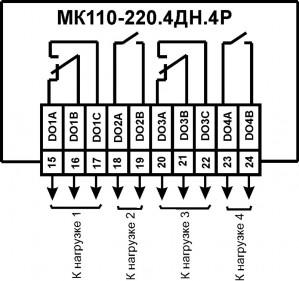 Схема подключения к ВЭ типа твердотельное реле