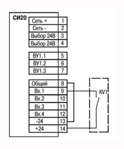 Подключение к входу коммутационных устройств при работе с p-n-p датчиками