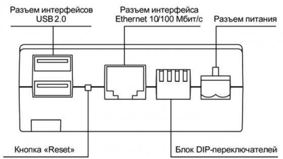 Внешний вид верхней панели прибора ОВЕН ЕКОН134