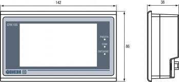 Панельный программируемый логический контроллер ОВЕН СПК105. габаритные размеры