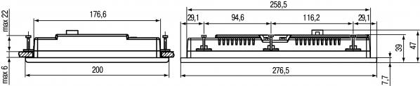 Дополнительные установочные размеры ОВЕН СПК110