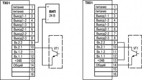 Подключение пассивных датчиков, имеющих на выходе транзистор n-p-n типа с открытым коллекторным входом