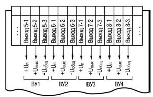 Схема подключения выходных устройств прибора ТРМ136-У