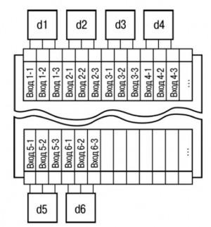 Общая схема подключения измерительных датчиков