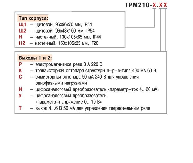 Измеритель ПИД-регулятор с интерфейсом RS-485 ОВЕН ТРМ210. Модификации