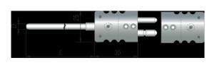 ДТПК284 (с вилкой стандарт-разъема и адаптером)