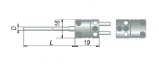 ДТПК374 (с вилкой мини-разъема и адаптером)