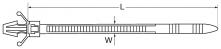 Кабельный хомут анкерный размеры