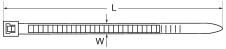 Стандартные кабельные хомуты размеры