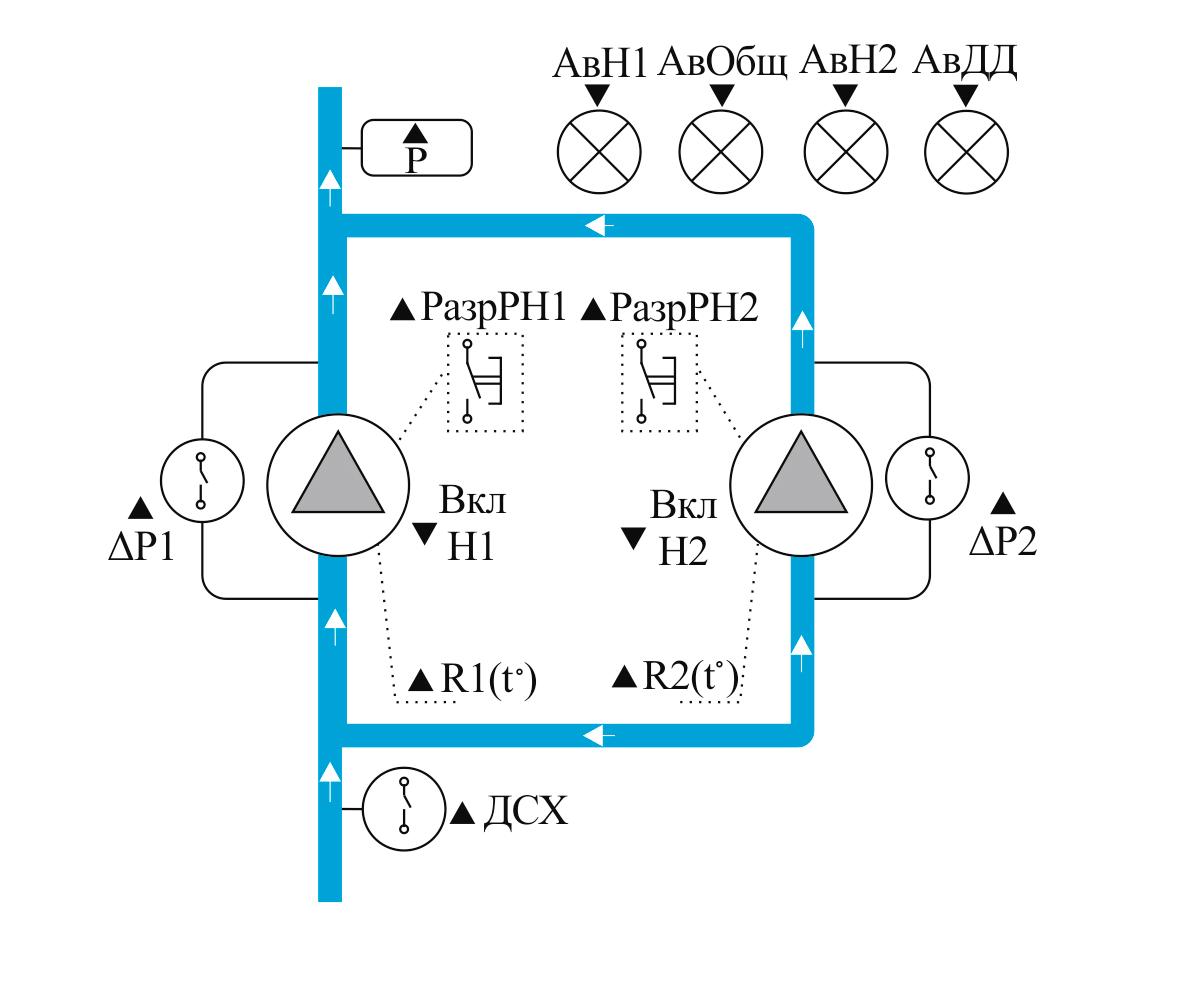 Схема аналогового преобразователя давления