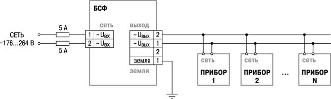 Схема подключения ОВЕН БСФ