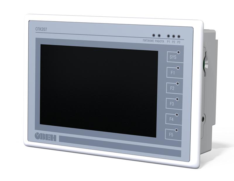 Панельный программируемый логический контроллер ОВЕН СПК207