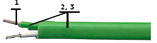 Многожильный термопарный кабель ПВХ тип К