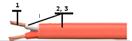 Многожильный термопарный кабель ПВХ тип S
