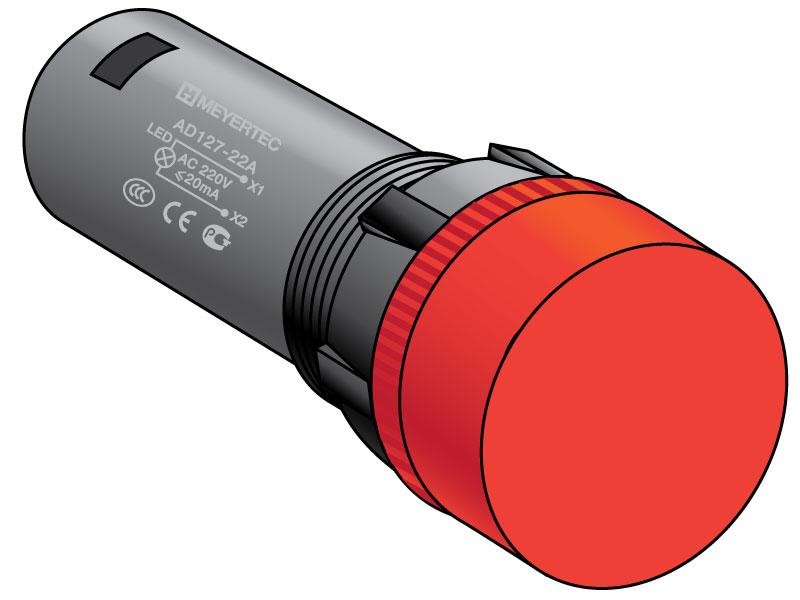 Сигнальные лампы, степень защиты IP65 (тип «А»)