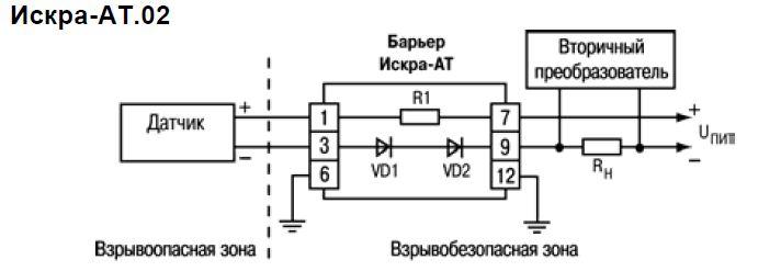Схемы подключения ИСКРА-АТ.02