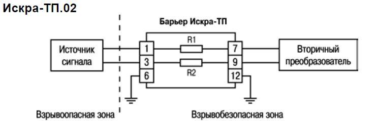 Схемы подключения ИСКРА-ТП.02