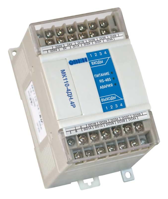 Модуль ввода-вывода дискретных сигналов МК110-4ДН.4Р