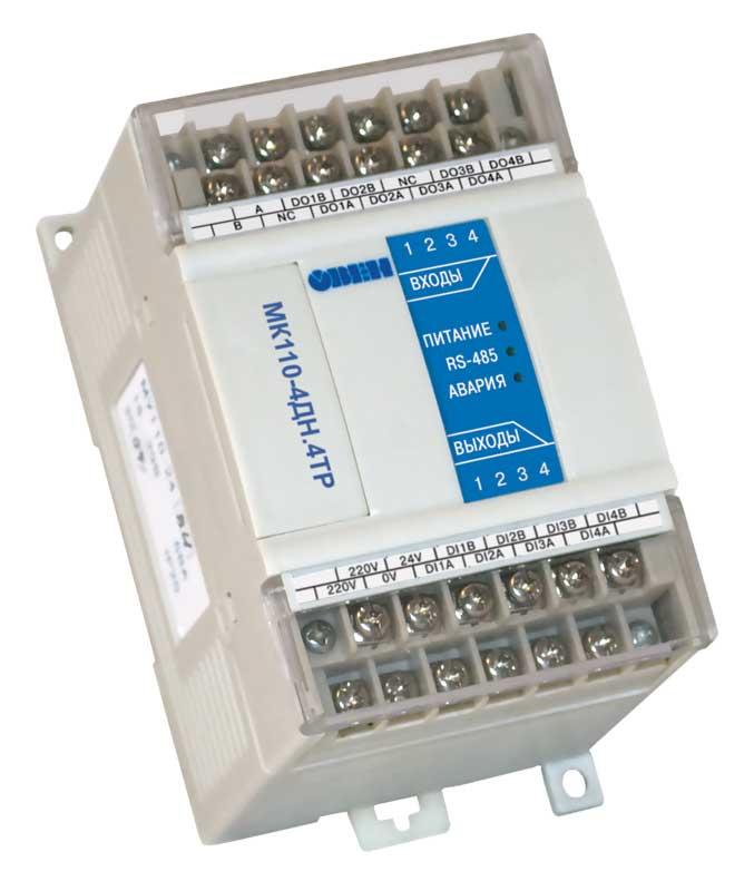 Модуль ввода-вывода дискретных сигналов МК110-4ДН.4ТР