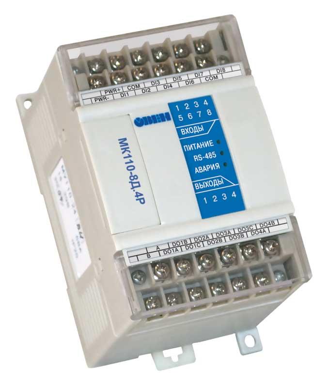 Модуль ввода-вывода дискретных сигналов МК110-8Д.4Р