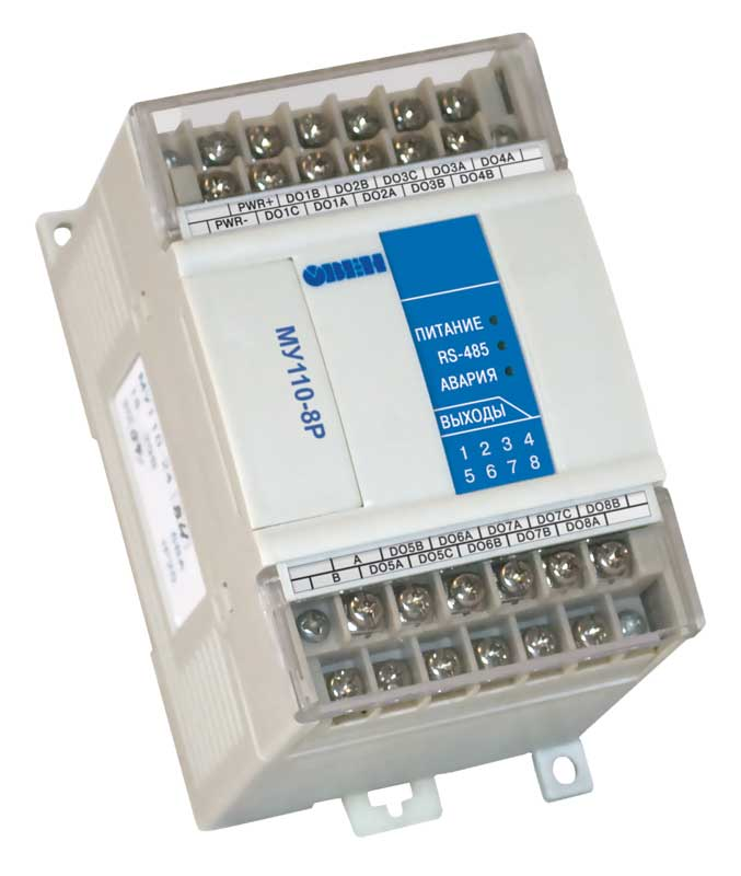 Модуль дискретного вывода ОВЕН МУ110-8Р