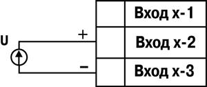 Схема подключения ОВЕН МВ110-2А