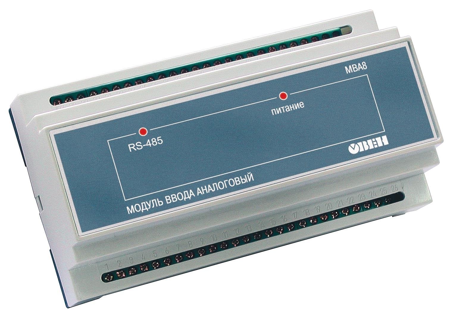 Назначение ОВЕН МВА8 Восьмиканальный универсальный измерительный модуль ввода для распределенных систем управления в...