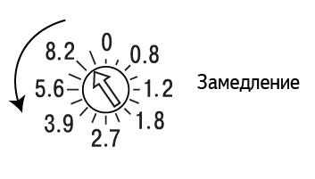 Настройка времени торможения
