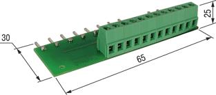 ПДИМ-8. Плата подключения к дискретным входам ОВЕН ПЛК100-24 датчиков с общим «минусом»