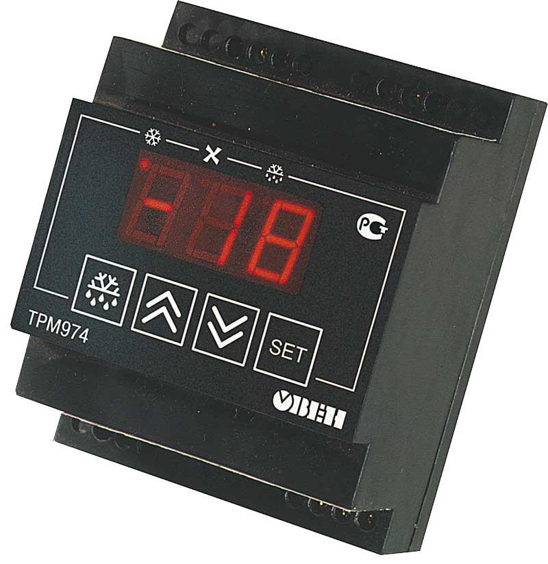 Блок управления средне- и низкотемпературными холодильными машинами с автоматической разморозкой ОВЕН ТРМ974