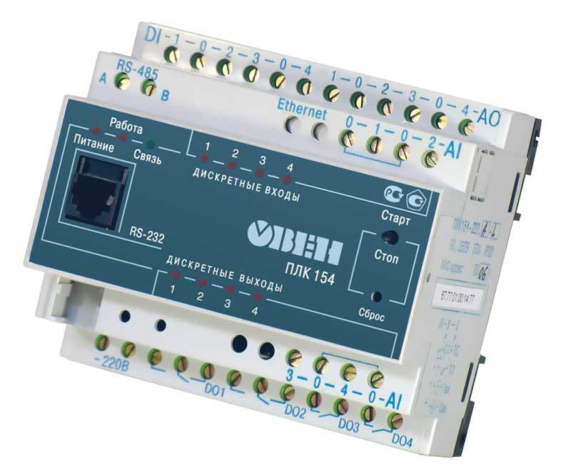 Программируемый логический контроллер ОВЕН ПЛК 154