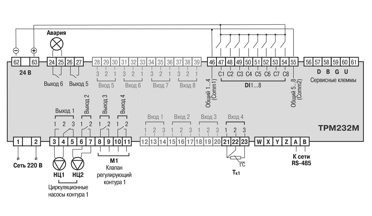 схема автоматическое управление отоплением и гвс