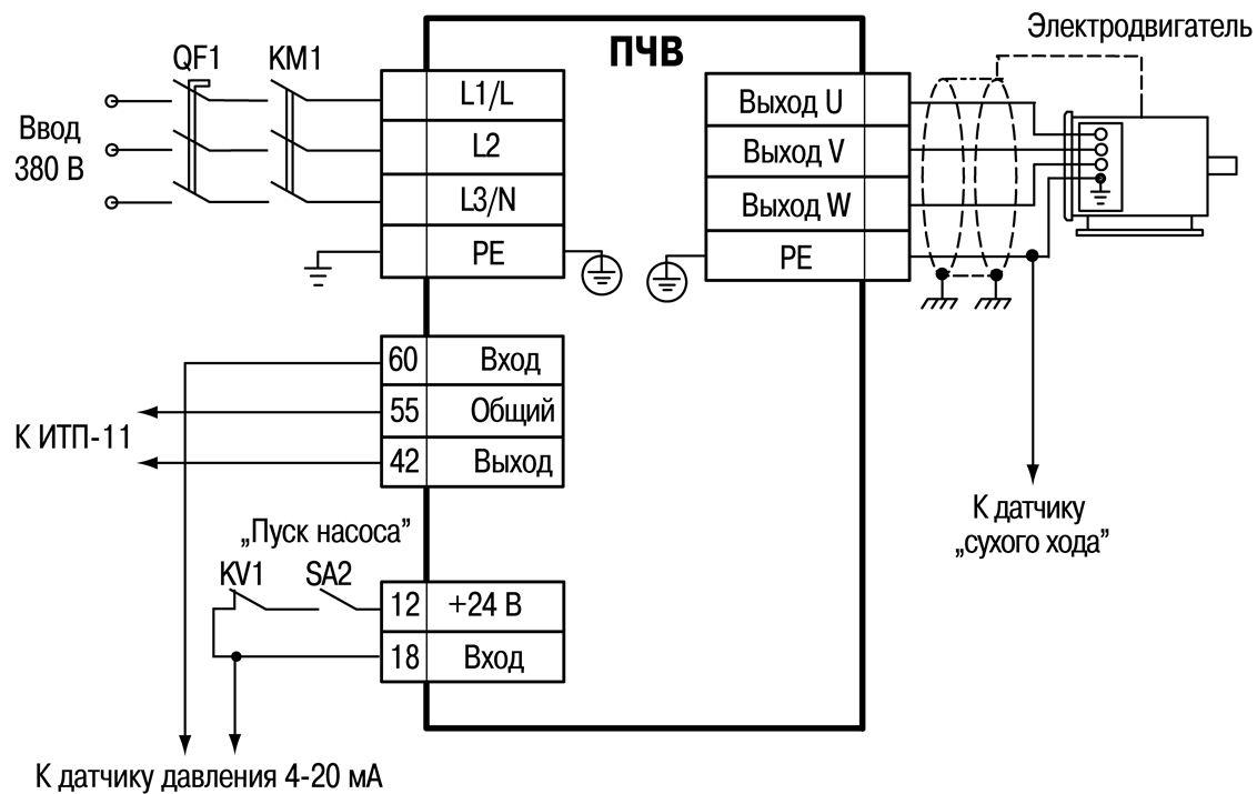 Схема электрическая k