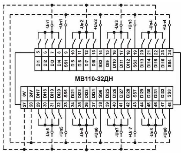 Схема подключения к МВ110-32ДН