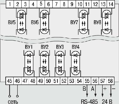 Схемы подключения ТРМ138В-С