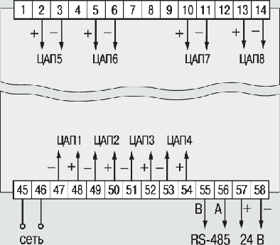 Схемы подключения ТРМ138В-И