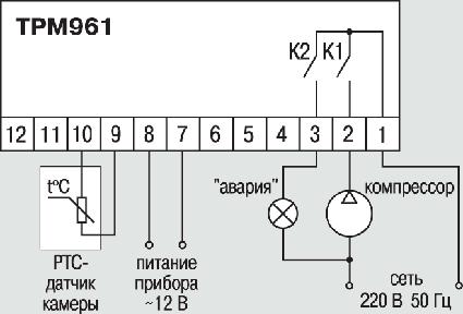Схема подключения ОВЕН ТРМ961