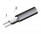 Термопарный кабель ПВХ тип J, 2×0,44