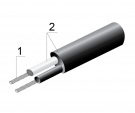 Провод термопарный ЖК×2 0,22 ННЭ 3,3мм