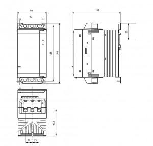 Габаритные размеры УПП2-7К5-В