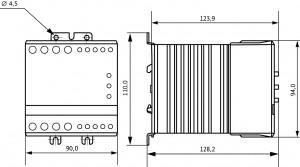 Габаритный чертеж УПП1-11К-В