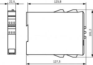 Габаритный чертеж УПП1-1К5-В