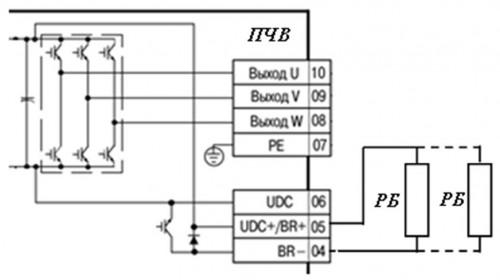 Схема подключения тормозных резисторов