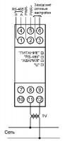 Схема подключения МЭ110-224.1Н к однофазной сети