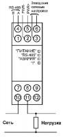 Схема подключения МЭ110-224.1Т к однофазной сети