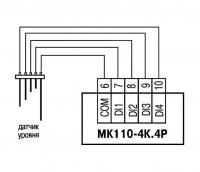 Схема подключения МК110-220.4К.4Р