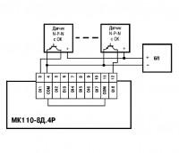 Схема подключения МК110-224.8Д.4Р