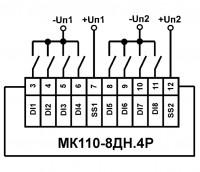 Схема подключения МК110-224.8ДН.4Р