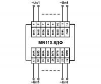Схема подключения МВ110-224.8ДФ