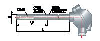 Преобразователи термоэлектрические на основе КТМС в защитной арматуре модель 225